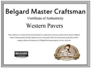 Belgard Master Craftsman Certified