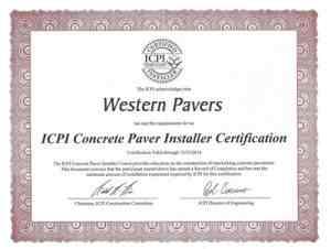Interlocking Concrete Pavement Institute Level 2 Certification
